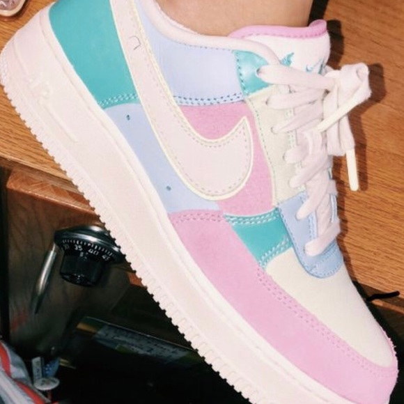 Pastel aesthetic Nike AIRFORCE 1's